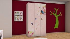 Imaginea Dulap 3 usi Butterfly